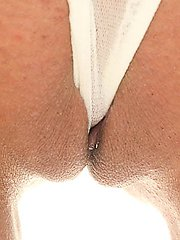 Sexy blonde has her bald camel toe licked before a hard dick pounding
